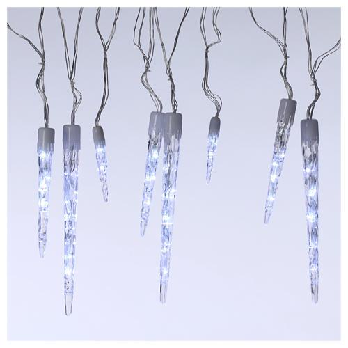 Catena 15 ghiaccioli 70 led ghiaccio interno esterno 1