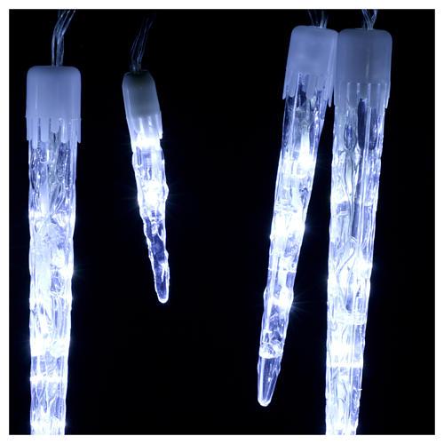 Catena 15 ghiaccioli 70 led ghiaccio interno esterno 3