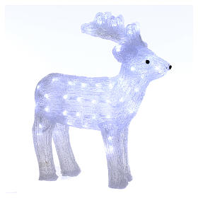 Christmas light reindeer shape 80 leds internal and external use 50 cm s1