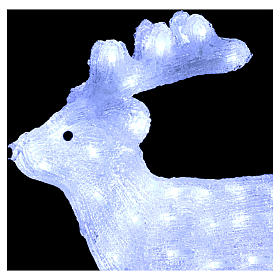Christmas light reindeer shape 80 leds internal and external use 50 cm s4