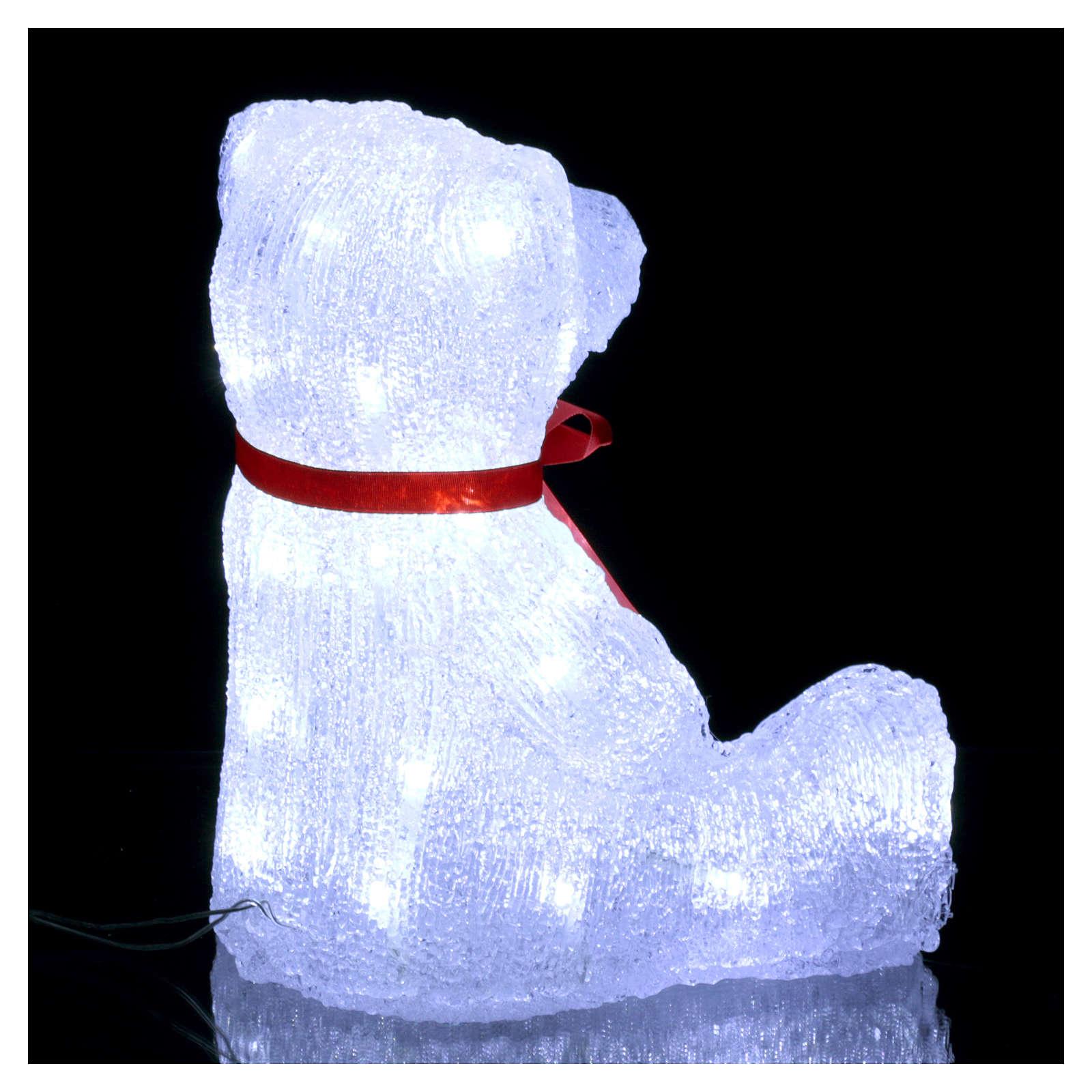 Luce natalizia orso 40 Led interno esterno h. 27 cm 3