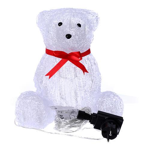 Luce natalizia orso 40 Led interno esterno h. 27 cm 5