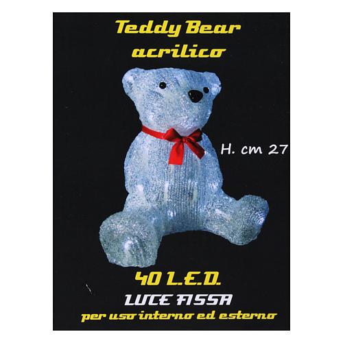 Luce natalizia orso 40 Led interno esterno h. 27 cm 6