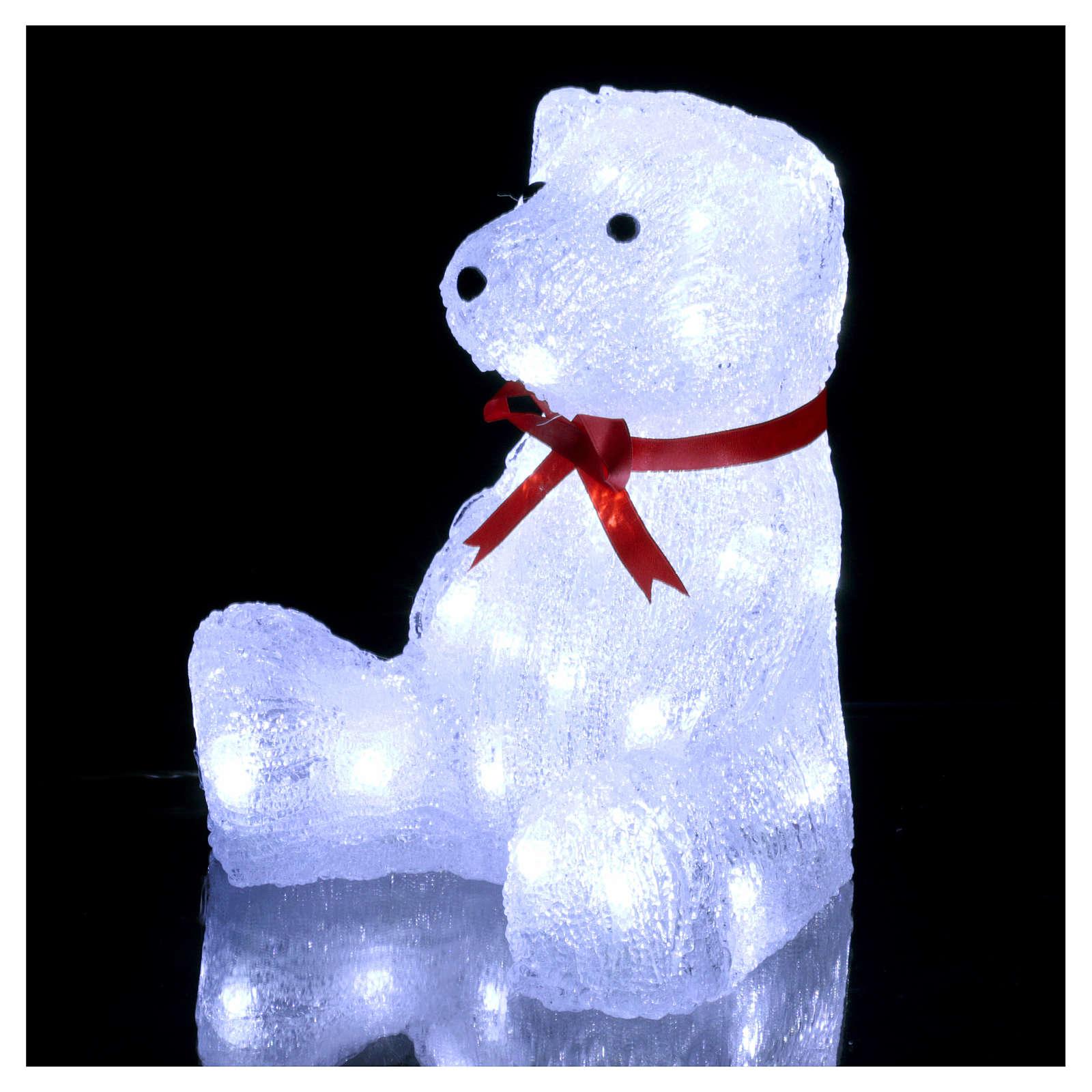 christmas light bear shape 40 leds 27 cm internal and external use 3