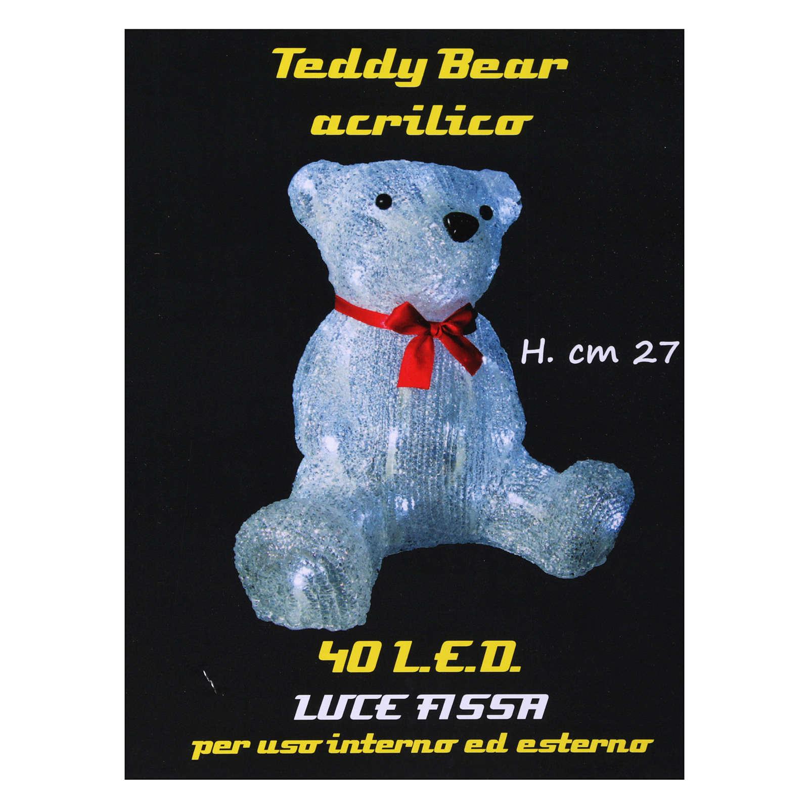 Christmas figure light bear shape 40 leds 27 cm internal and external use 3