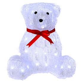 Christmas figure light bear shape 40 leds 27 cm internal and external use s1