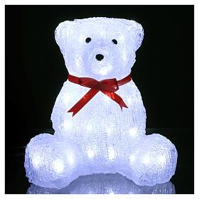 Christmas figure light bear shape 40 leds 27 cm internal and external use s2