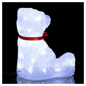 Christmas figure light bear shape 40 leds 27 cm internal and external use s4