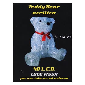 Christmas figure light bear shape 40 leds 27 cm internal and external use s6