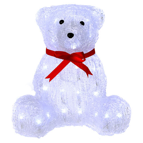 Christmas figure light bear shape 40 leds 27 cm internal and external use 1