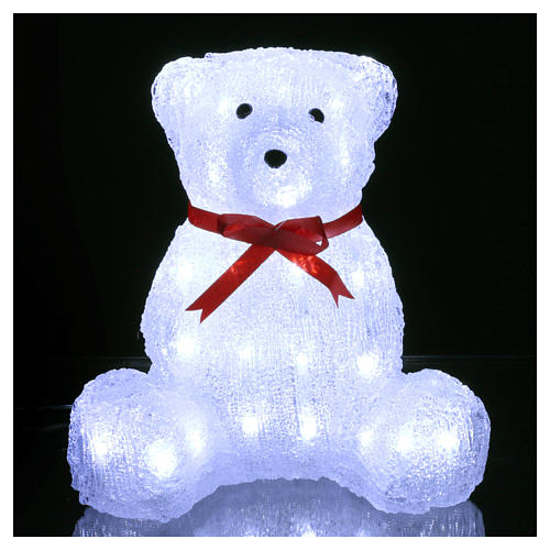 Christmas figure light bear shape 40 leds 27 cm internal and external use 2
