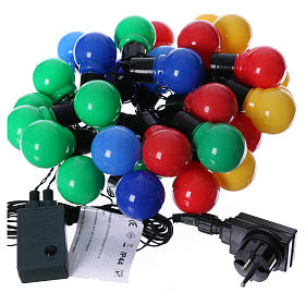 Illuminated chain 30 coloured leds internal and external use s4