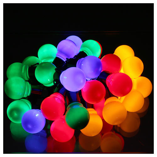 Illuminated chain 30 coloured leds internal and external use 2