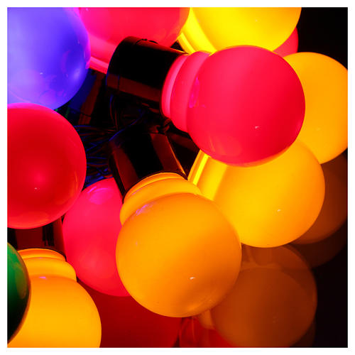 Illuminated chain 30 coloured leds internal and external use 3