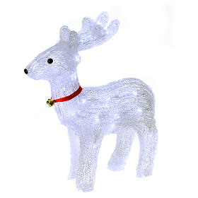 Christmas lights: Reindeer light 40 leds 37 cm ice white internal and external use