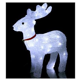 Reindeer light 40 leds 37 cm ice white internal and external use s2