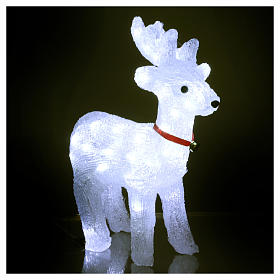 Reindeer light 40 leds 37 cm ice white internal and external use s3
