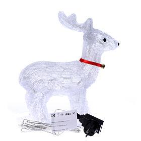 Reindeer light 40 leds 37 cm ice white internal and external use s4
