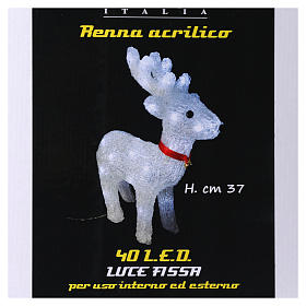 Reindeer light 40 leds 37 cm ice white internal and external use s5