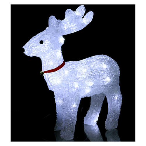 Reindeer light 40 leds 37 cm ice white internal and external use 2