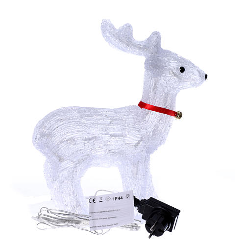 Reindeer light 40 leds 37 cm ice white internal and external use 4