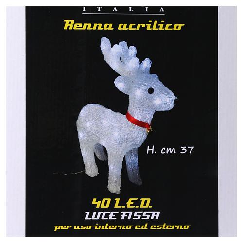 Reindeer light 40 leds 37 cm ice white internal and external use 5