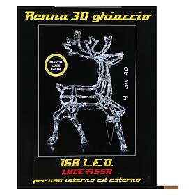 Renna luminosa 168 led bianco caldo interno esterno 90 cm s6