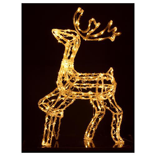 Renna luminosa 168 led bianco caldo interno esterno 90 cm 3