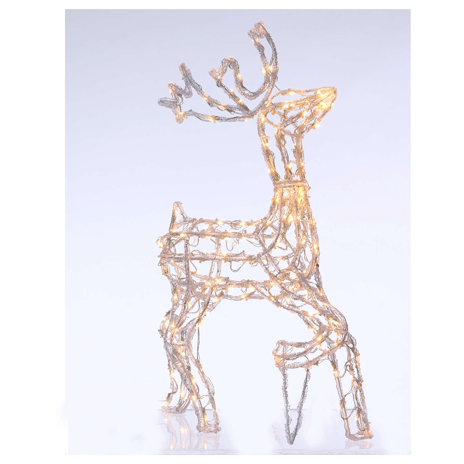 Christmas light illuminated reindeer 168 leds warm white internal and external use 90 cm 3