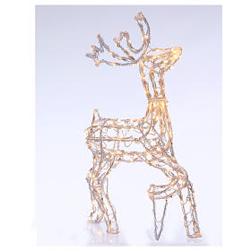 Christmas light illuminated reindeer 168 leds warm white internal and external use 90 cm s1