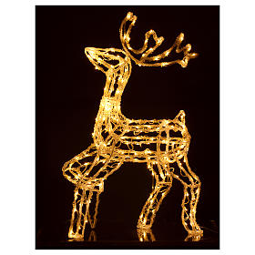 Christmas light illuminated reindeer 168 leds warm white internal and external use 90 cm s3
