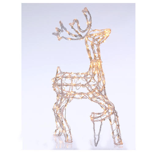 Christmas light illuminated reindeer 168 leds warm white internal and external use 90 cm 1