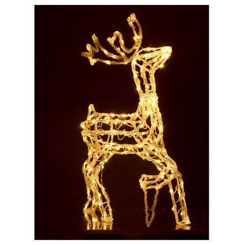 Christmas light illuminated reindeer 168 leds warm white internal and external use 90 cm 2