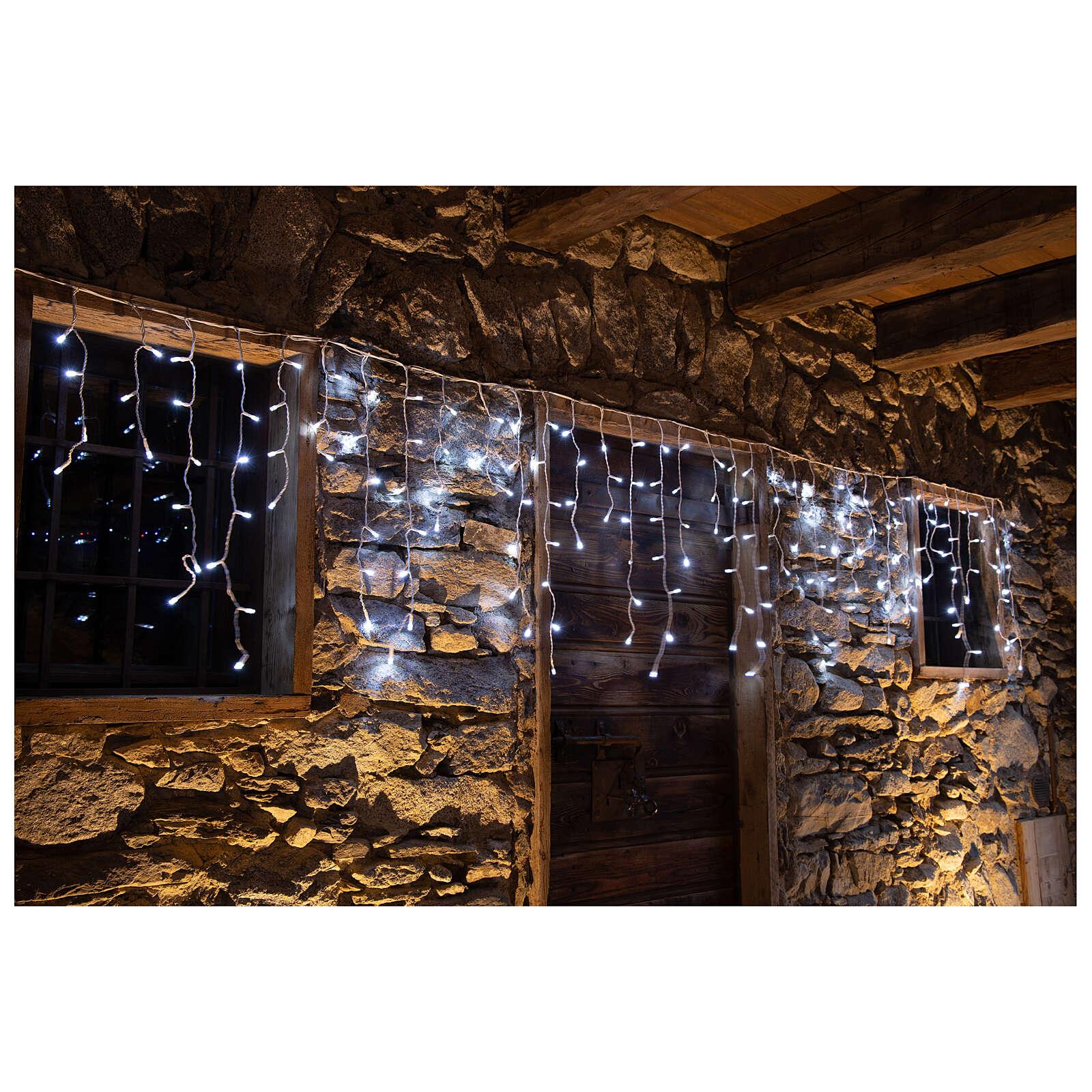 Christmas lights stalactites 180 leds ice white internal and external use 3