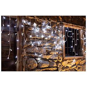 Christmas lights stalactites 180 leds ice white internal and external use s3