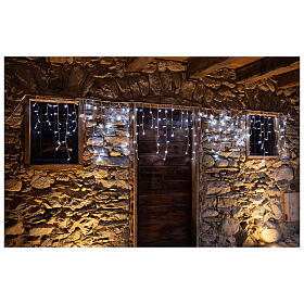 Christmas lights stalactites 180 leds ice white internal and external use s4