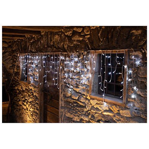 Christmas lights stalactites 180 leds ice white internal and external use 1