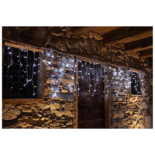 Christmas lights stalactites 180 leds ice white internal and external use 6