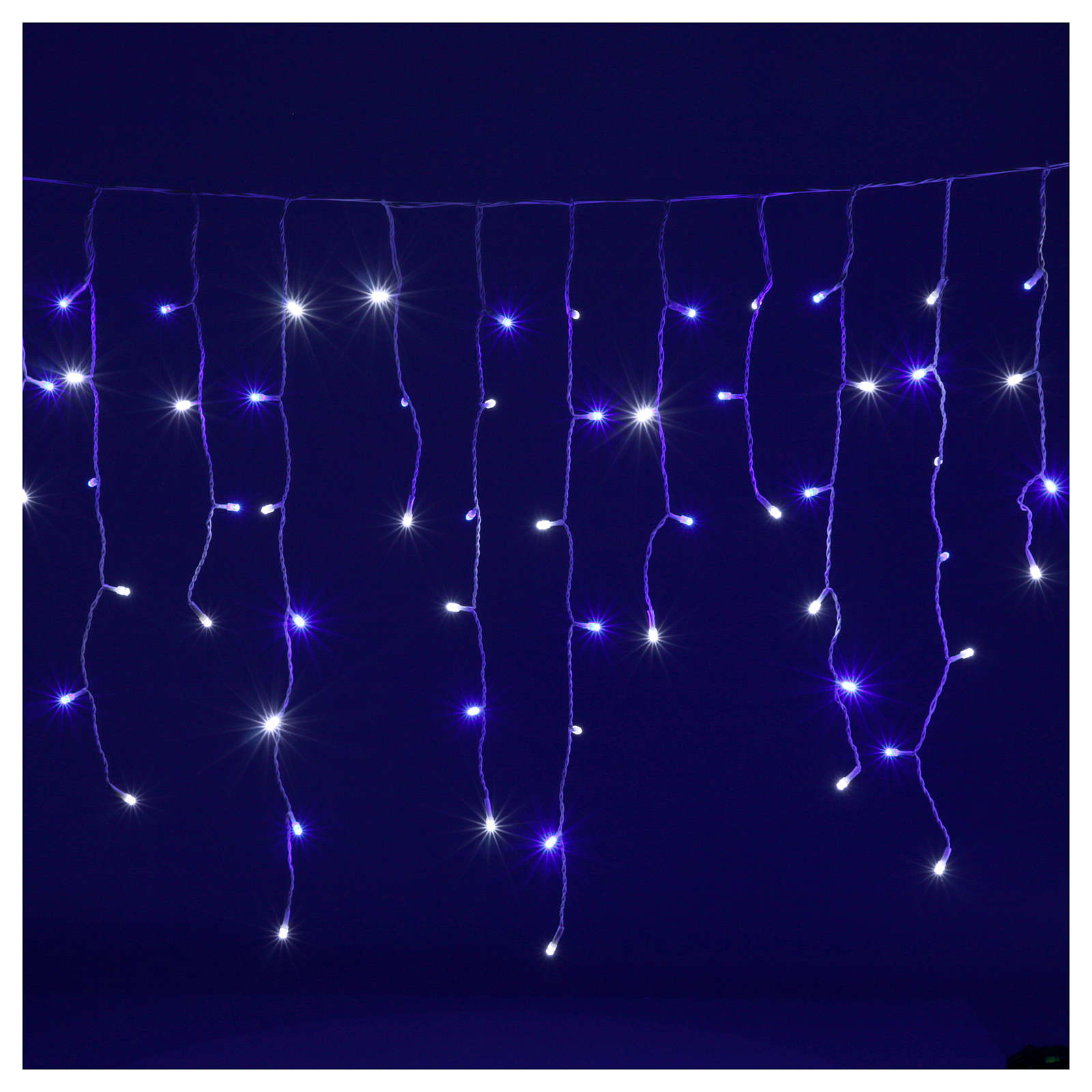 Catena luminosa stalattiti 180 led bianco blu interno esterno 3