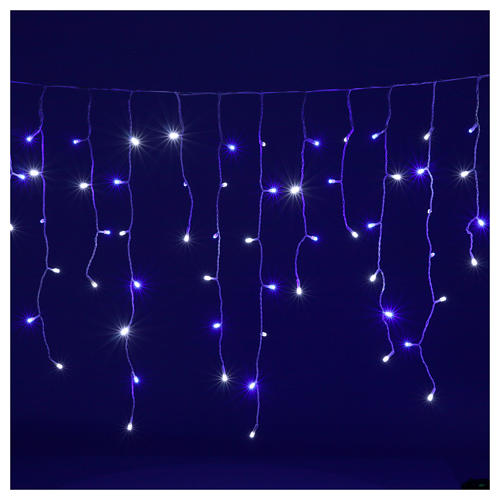 Catena luminosa stalattiti 180 led bianco blu interno esterno 2