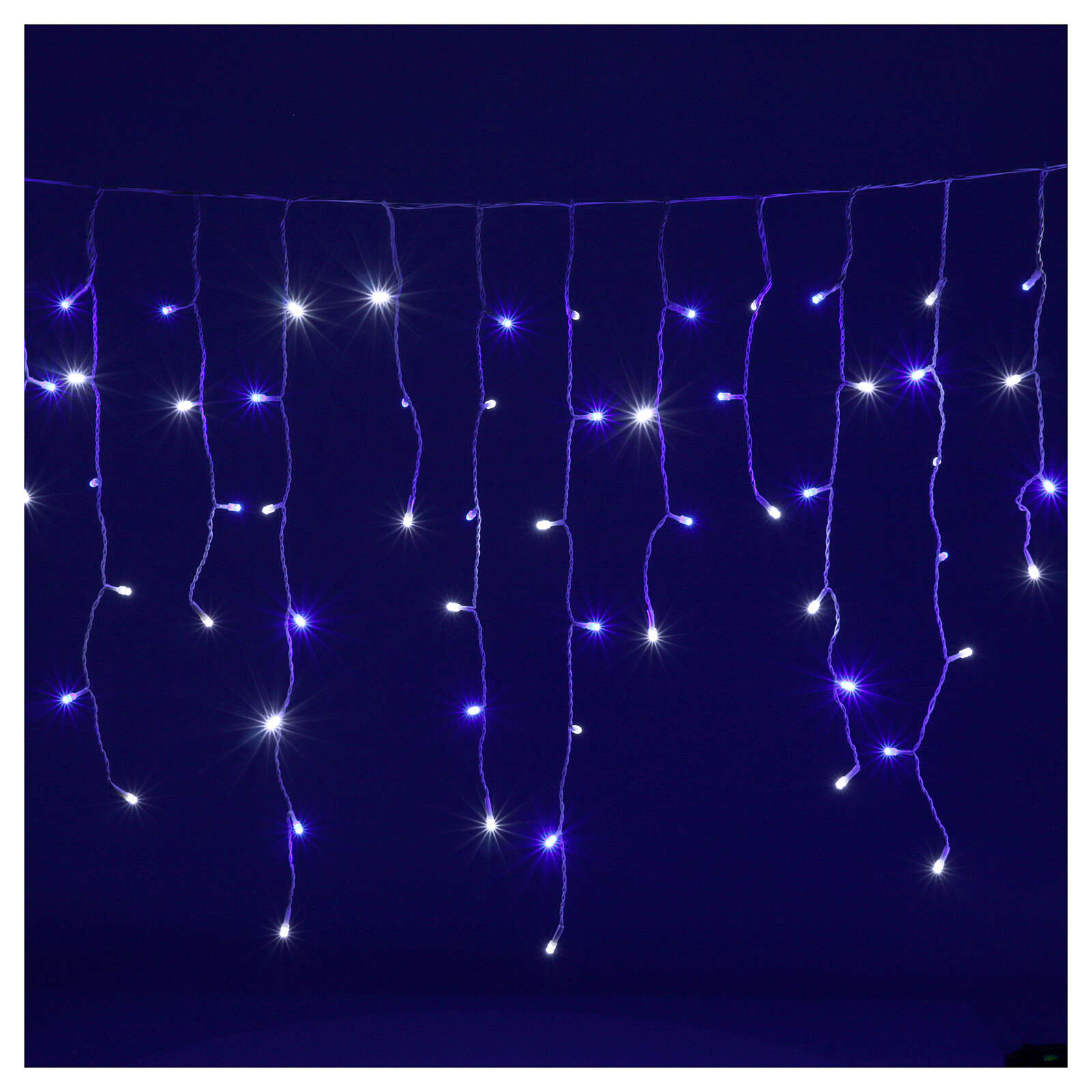 Illuminated chain stalactites 180 leds white and blue internal and external use 3