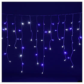 Illuminated chain stalactites 180 leds white and blue internal and external use s2