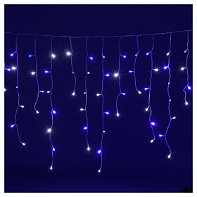 Illuminated chain stalactites 180 leds white and blue internal and external use s3