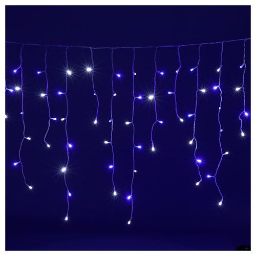 Illuminated chain stalactites 180 leds white and blue internal and external use 2