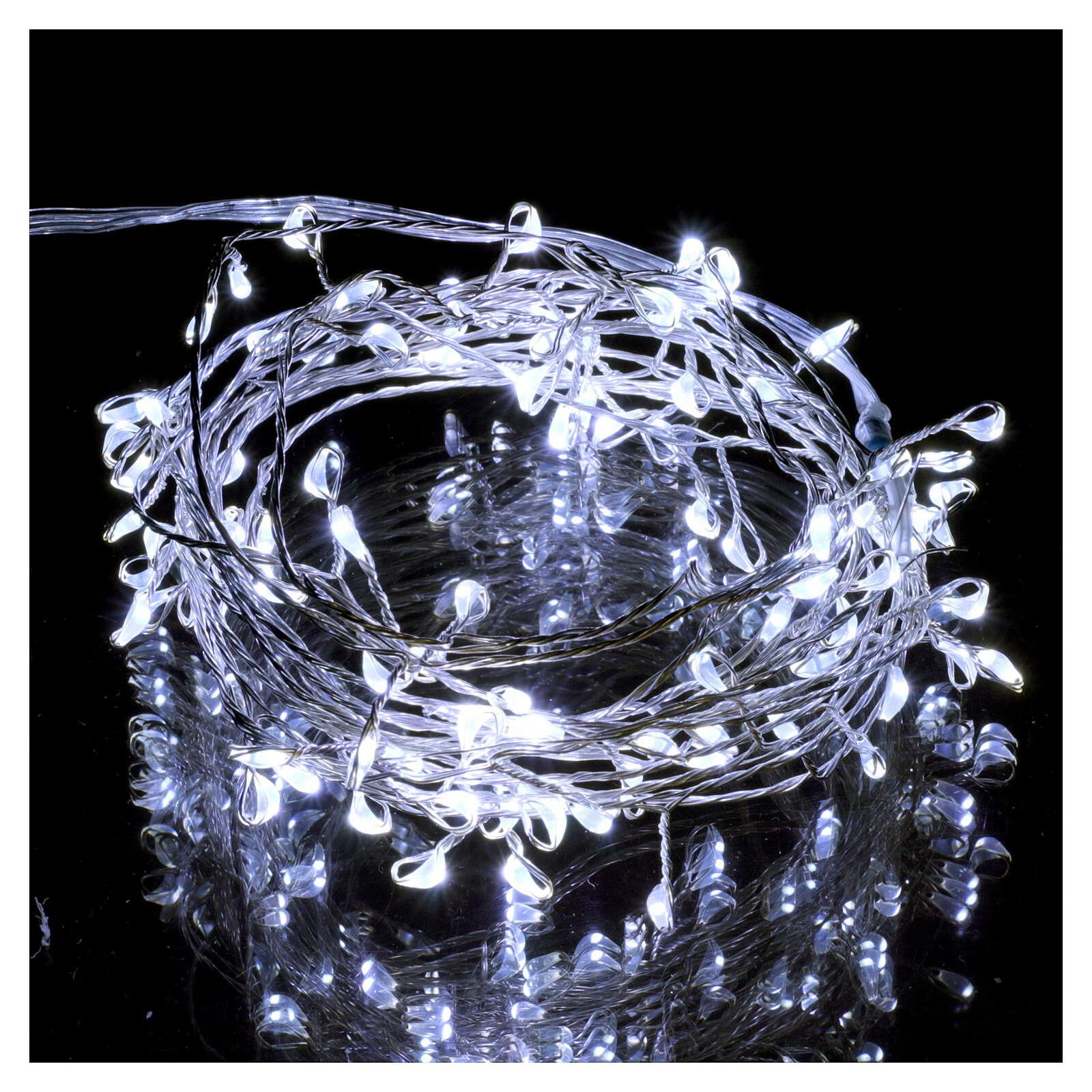 Luce rametto filo nudo 100 nano led ghiaccio uso interno 3