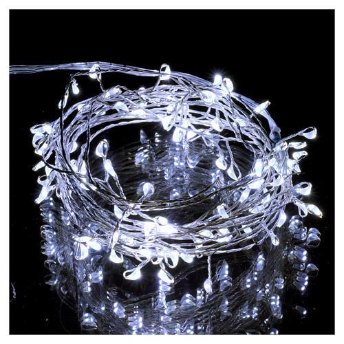 Luce rametto filo nudo 100 nano led ghiaccio uso interno 2