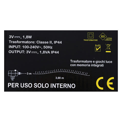 Luce filo nudo 100 nano led multicolor uso interno 5