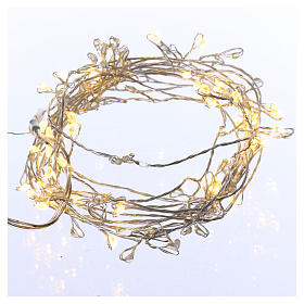 Christmas lights: Bare wire light cable 100 warm white nano leds internal use