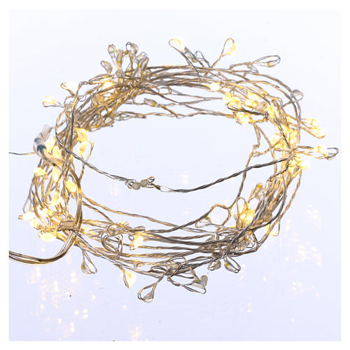 Bare wire light cable 100 warm white nano leds internal use 1
