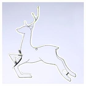 Illuminated reindeer 360 ice white leds 57x57 cm external and internal use s1